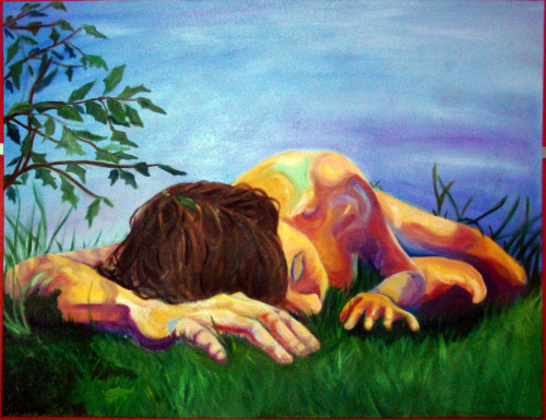 Grass roots, oil on canvas