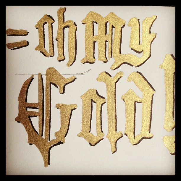 Playing with words & colors! #gold #danilomancini #sailordanny #ohmygod #ohmygold #oh #my #gold #playing #marker