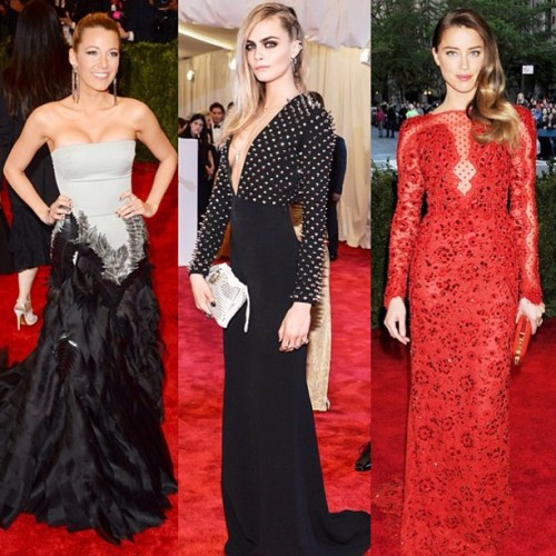 These ladies made punk look seriously glam at this years Met Ball. #bestdressed #metball #redcarpet #punk