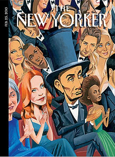 coverjunkie:   The New Yorker (US) Artwork by MARK ULRIKSENDaniel Day Lewis as Lincoln at the Oscars on new cover The New Yorker.