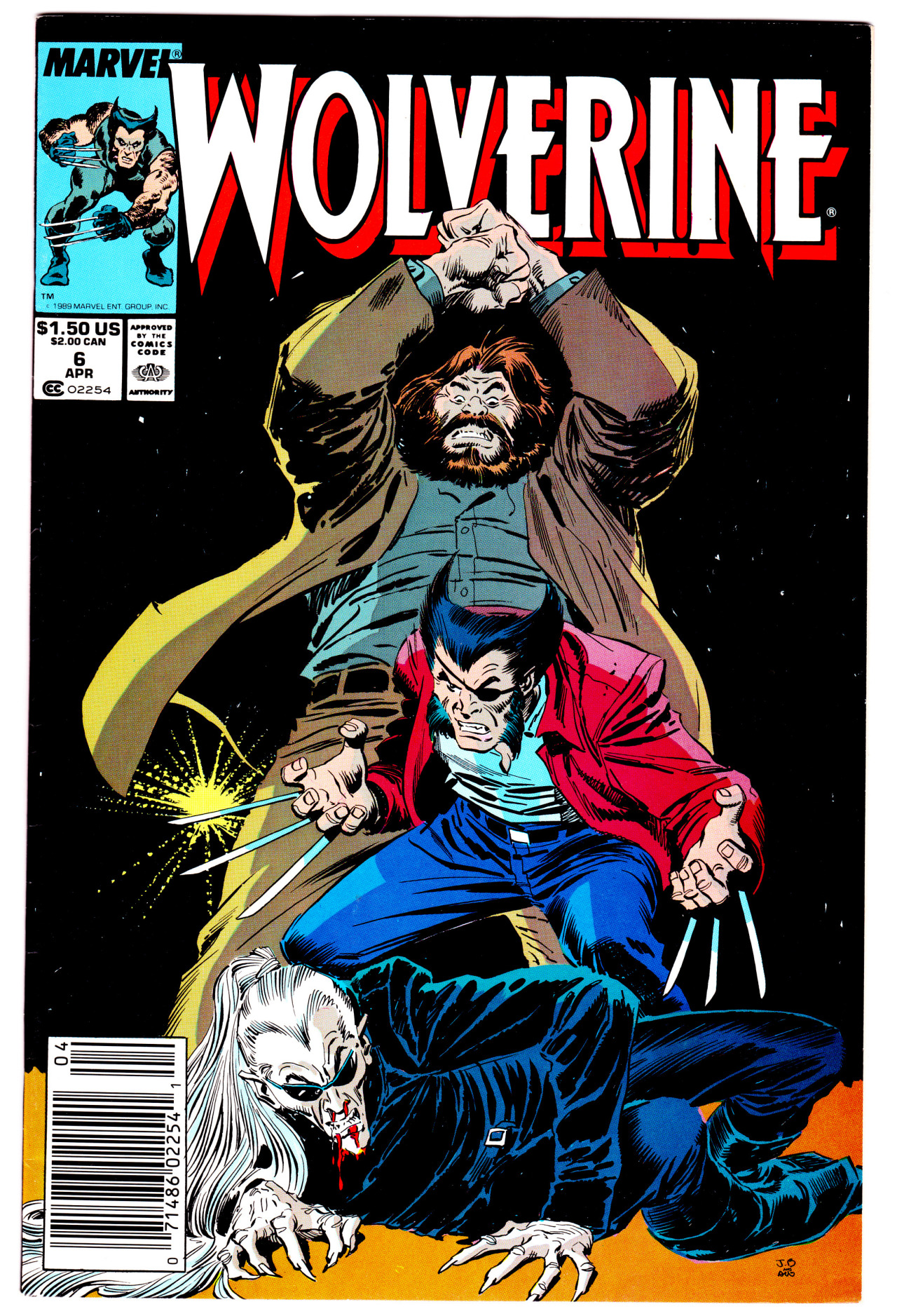 "jthenr-comics-collection:  Wolverine #6 (April 1988)""Rough House!""Art by John Buscema & Al WilliamsonStory by Chris Claremont"