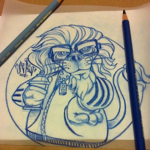 #SKETCHING for tomorrows #painting session @dstrtdtruth #lion #bboycaracter #adidas #Cazals #graffitilovers #graffiti #aerosolArt #LosAngeles #MZK #mightyZulukings #spraycans #DRAWING #doodling