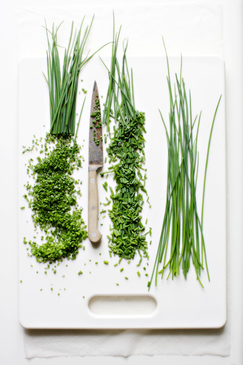 bonappetit:  This spring The Seasonal Cooks ask: what can't you put chives on? (Credit: Hirsheimer & Hamilton)  Me encanta el puerro