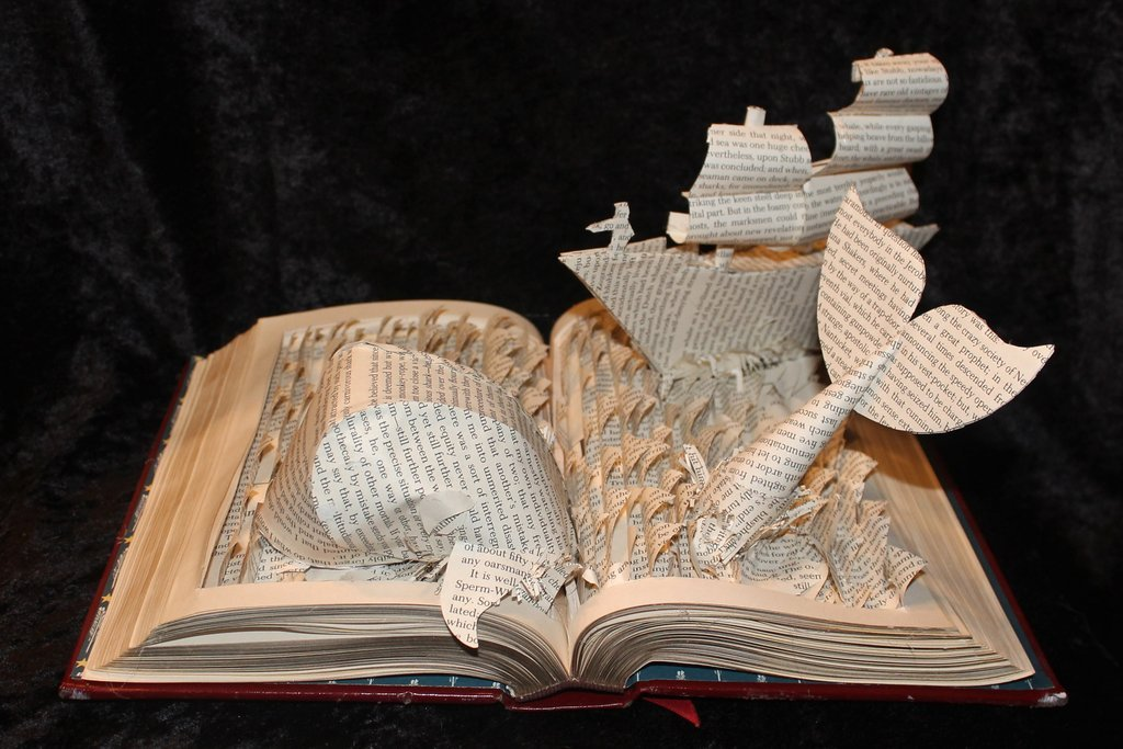 Moby Dick Book Sculpture by Jodi Harvey-Brown