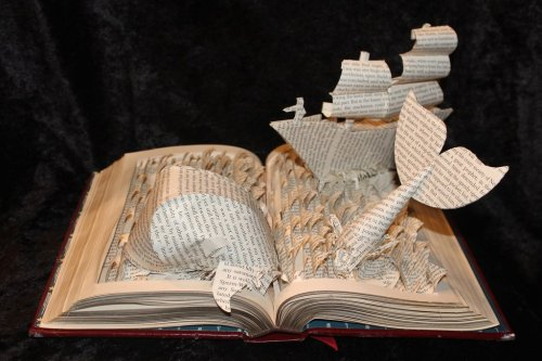fuckyeahmobydick:   Book Art by Jodi Harvey-Brown