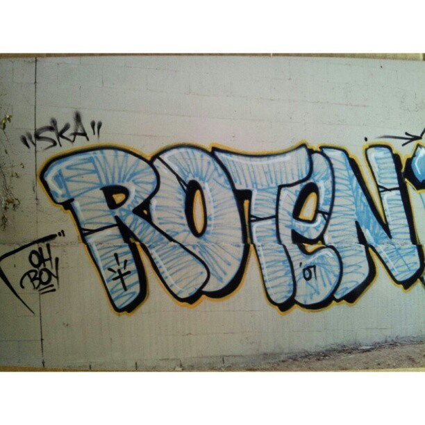 Oh Boy #roten #ska #graffiti #freeway #bombin #tbt