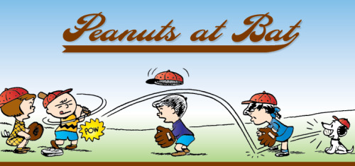 These vintage Peanuts Baseball comics are so cute!