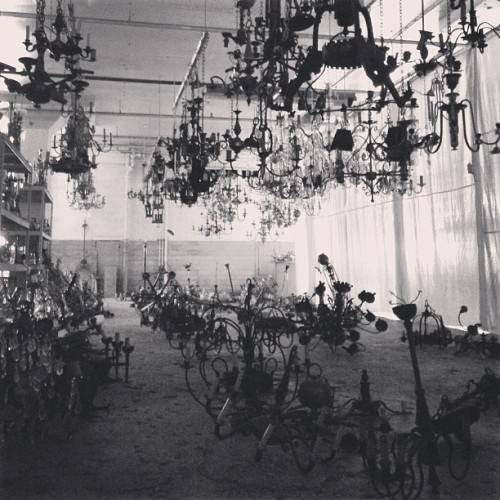 Chandelier graveyard. (at Brass Light Gallery)