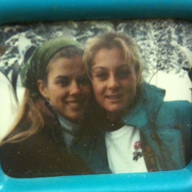 This is @trin4 + me (on left) in Dec 1990 during a high school Ski/Snowboard Club trip to Utah.  This day we were at @skisolitude.  We were 16.  Ahh, the memories. :)  #flashbackfriday #fbfriday