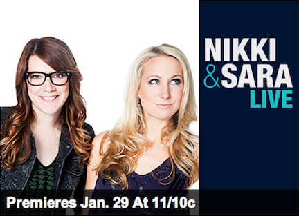 mtv:  emmyblotnick:  NIKKI & SARA LIVE PREMIERES TONIGHT ON MTV! Holy moly. I've been writing for this show with some ridiculously funny people and I'm way too excited for its debut. Nikki Glaser and Sara Schaefer are amazing comedians, the first guest is Ke$ha and we're live in the TRL studio in Times Square. So many things about this show just make me goop my pants each and every day, so please, WATCH! 11PM, MTV. Eeeee!!!  Yes! Watch this tonight right after Snooki gives birth.