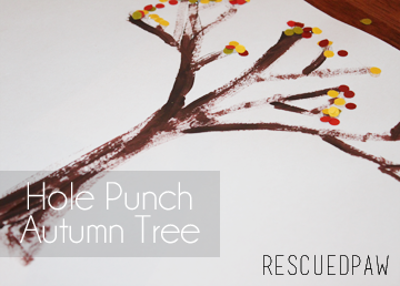Hole Punch Autumn Tree {CRAFT TUTORIAL} #fall #kids