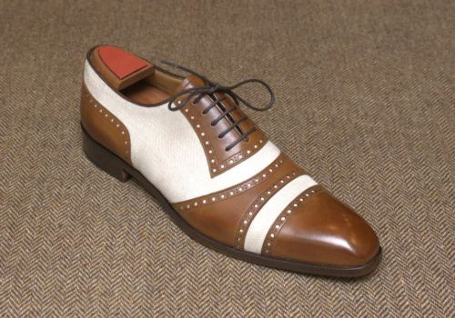 marcguyot:  Thirties' Inspired Oxford. Blake Construction.  Linen & Leather…!