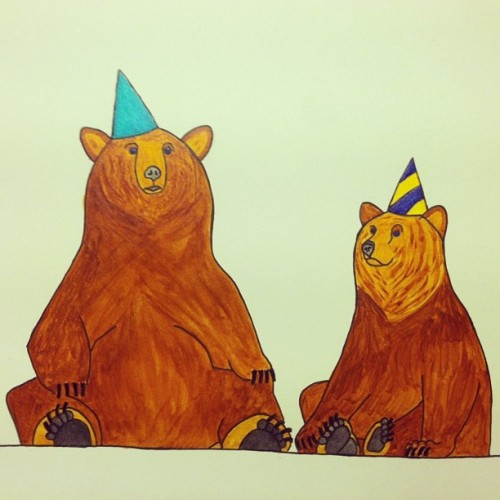 Birthday card I made for @carolinejbastarache #bears