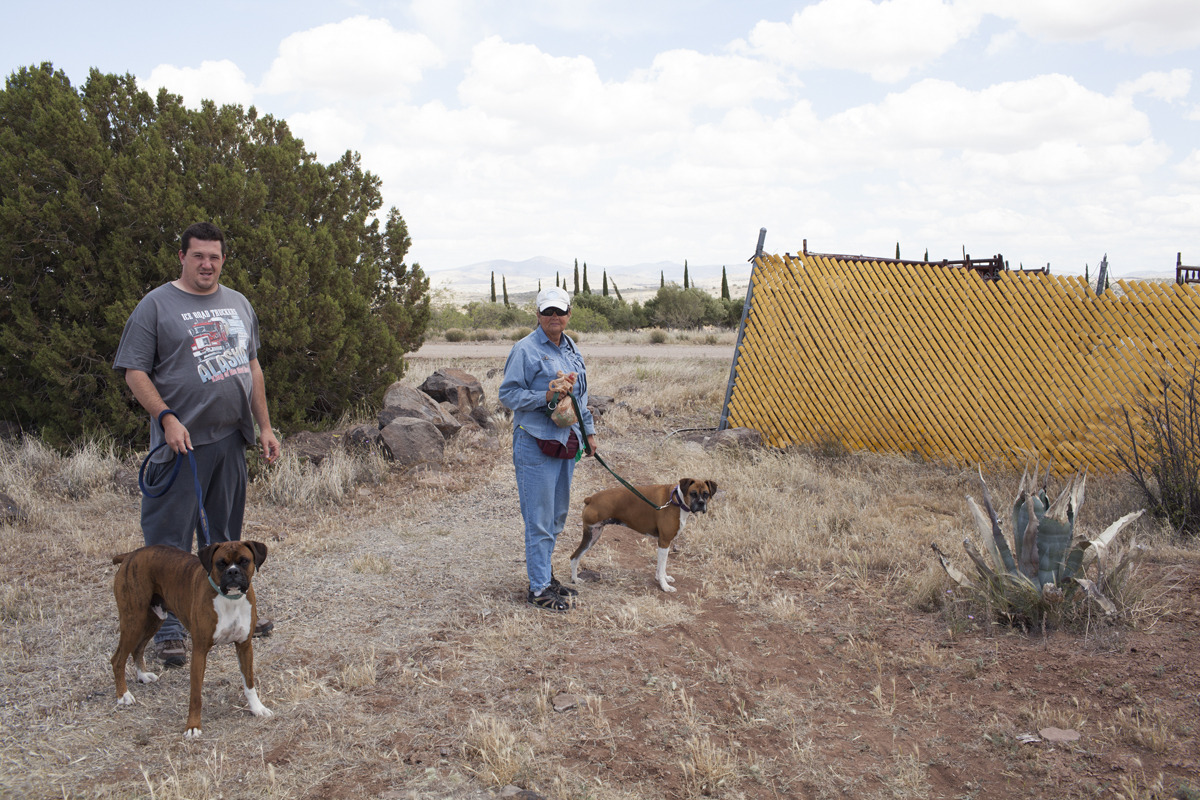 05/07/13 Arcosanti, AZ  Vistors and their dogs.
