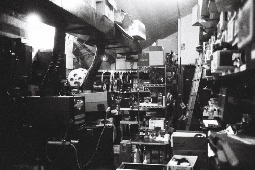 rcjohnso:  New Beverly Cinema projection room Los Angeles