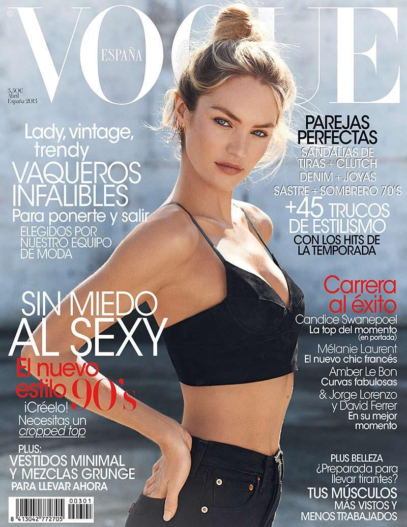 Candice Swanepoel by Mariano Vivanco for Vogue Spain April 2013.