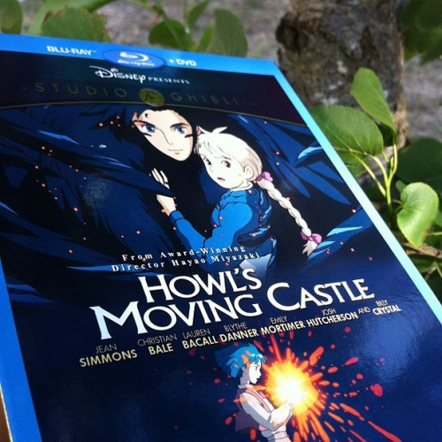 Yay!!!!!  Howl's Moving Castle finally on blu-ray. I eagerly await Spirited Away, whenever that happens. #studioghibli