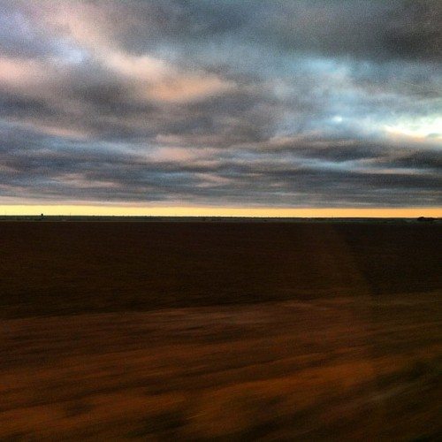 day breaks | outside San antonio, texas #train #travel #texas #amtrak