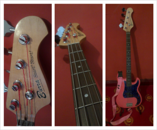 Check out the pink custom Burra Start! Start! bass! what  do you think?