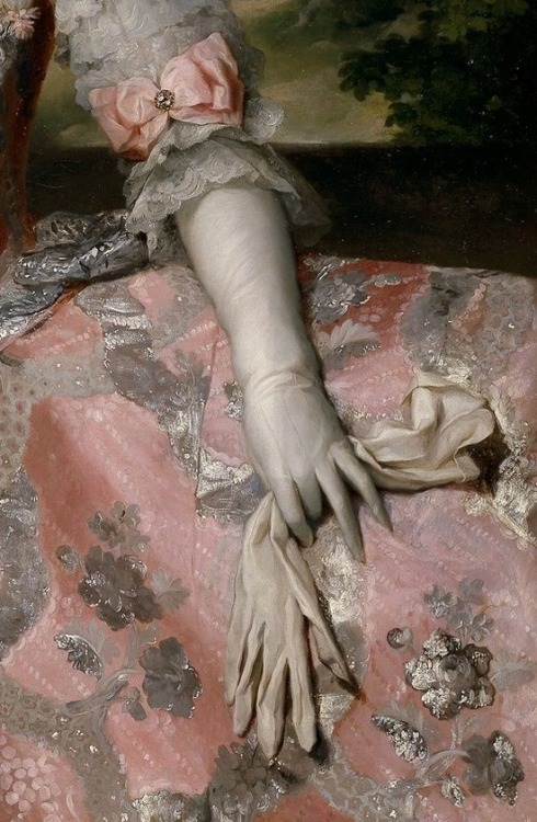 goddessofmayhem:  Queen Maria Carolina of Austria and Naples, by Mengs (detail)