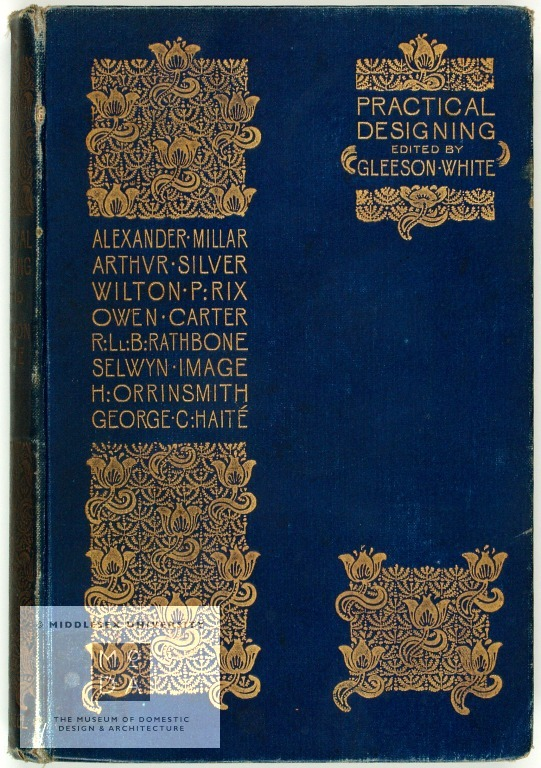 Practical designing: a handbook on the preparation of working drawingsPublicationArthur Silver,1894Joseph William Gleeson White, Editor, George Bell & Sons, Publisher, 1894A handbook on the preparation of working drawings edited by Gleeson White in 1894 and containing articles by authors including Arthur Silver and Alexander Millar.