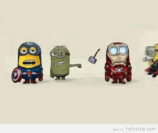 tehgingercupcake:  avengers minions are the best minions