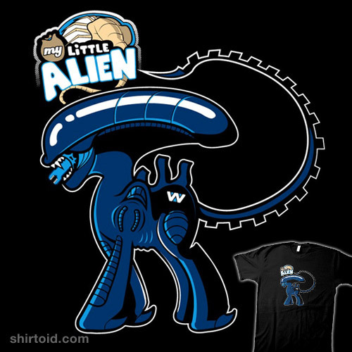 shirtoid:  My Little Alien by RatiganProductions is $10 today only (2/18) at RIPT Apparel