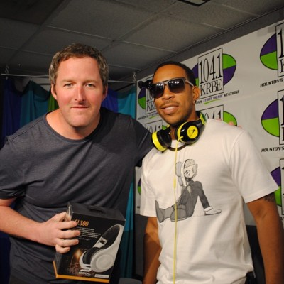 "#Ludacris just came through #Studio104 & made sure I had a pair of his headphones. THAT'S ""Southern Hospitality"" #krbe"