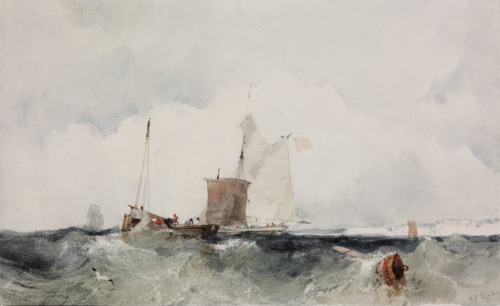 Richard Parkes Bonington, At the English Coast, 1825