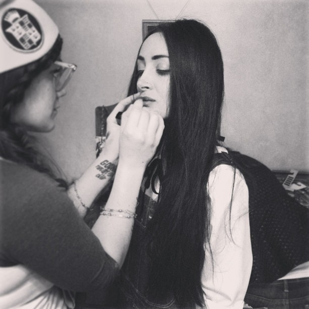 Tomboys can wear makeup too.  Picture from Wildfang's instagram. Sign up at Wildfang.com to get more tomboy goodies.. Photograph by the talented Lindsey Byrnes.