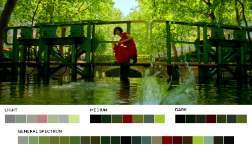 moviesincolor:  Jean-Pierre Jeunet WeekAmelie, 2001Cinematography: Bruno Delbonnel