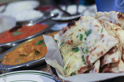 myfoodscrapbook:  Garlic Cilantro Naan by sheryip on Flickr.
