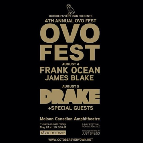 OVO FEST THIS YEAR IS GOING TO BE CRAZY #ovo #Toronto