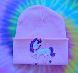 Pastel Unicorn Hand Patched Beanie by MoonShineApparel on Etsy on We Heart It - http://weheartit.com/entry/52883980/via/MoonShineApparel