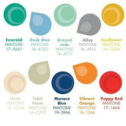 #Pantone 2013 forecast via @seeinteriors. In case you were wondering. Am pleased my favourite blue greens have appeared!