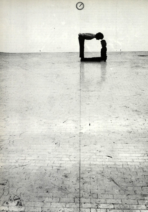 Time Space Body and Action by Klaus Rinke, Gallery L'Attico in Rome, 1972