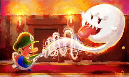 videogamenostalgia:  Luigi's Mansion 2  by Rickey Shine (Applejack Man) (via cyberwolf-lair)