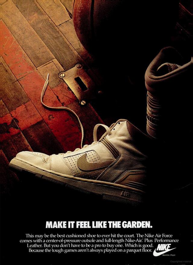 Nike Air Force, 1987 #nike#shoes#sneakers#80s clothing#1980s#1987#vintage advertising