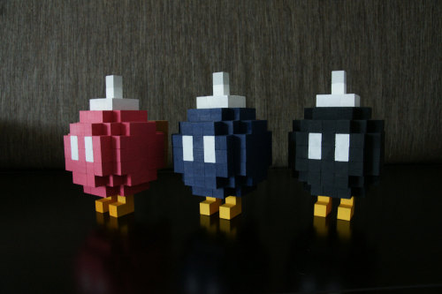 it8bit:  Custom Made Wood and Acrylic Statues Bomb-Omb, Metroid Energy Tank,Metroid Missileand more available at Gothelf Bros. Studios.