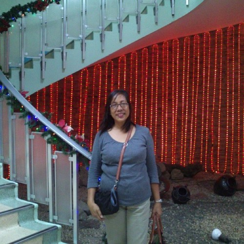 My ever fanatic mother. :) #papictureinthespiritofchristmas