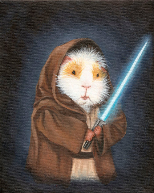 Size matters not. Jedi Guinea Pig by WhenGuineaPigsFly