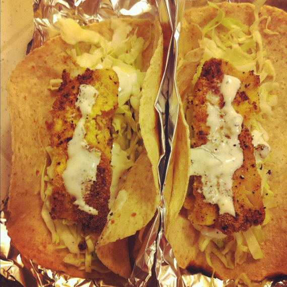 Homemade Fish Tacos 158 calories (18 grams of protein) Click here for recipe!