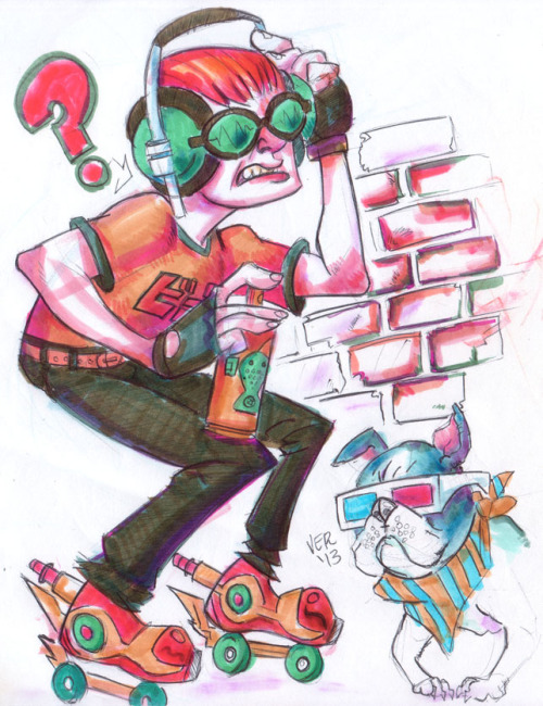 racconconnoisseur:  Beat in an art Block. Jet Set Radio sketch