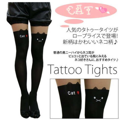 thunder-bunny:  thunder-bunny:  Cat Tattoo Tights $9.99