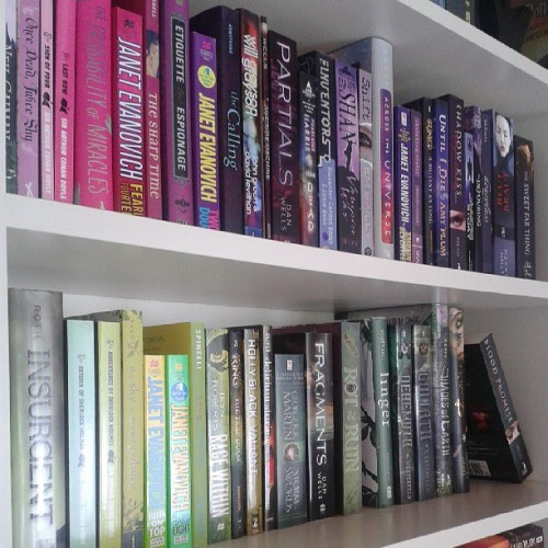 crini-allaboutbooks:  Part of my #bookshelf #green #purple #books #bookstagram