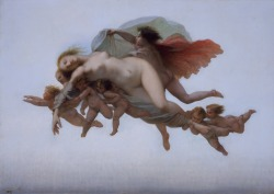 All aboard the naked baby train ~ Auguste Barthélémy Glaize Psyche, 1856