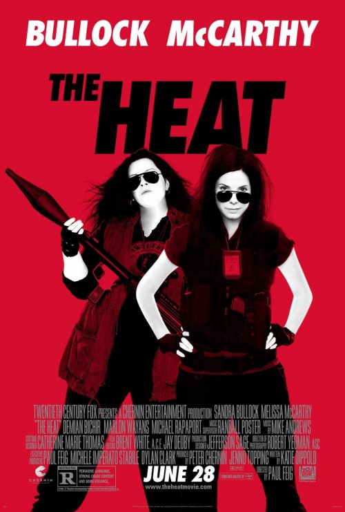 "Latest Poster For ""The Heat"" 20th Century Fox has released a new poster for the upcoming action, buddy-cop comedy, The Heat. Starring Sandra Bullock and Melissa McCarthy, the film sees Bullock, a by the books FBI agent, and McCarthy, an unorthodox Boston cop, partnered together to take down a local and notorious drug lord. The Heat also stars Michael Rapaport and Demian Bichir with a release date set for June 28th. [Cine1] —— Featured: Top 5 Kyoto Animation Anime Friend Us: Facebook and Twitter"