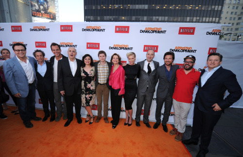 thebluthcompany:  The cast of Arrested Development at the Los Angeles Netflix's premiere of season 4 at the TCL Chinese Theatre on April 29, 2013. View even more photos here | Huffpost TV