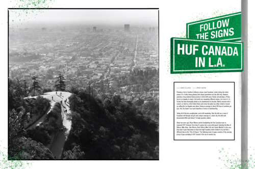 The Hollywood hills from Concrete Skateboarding magazine issue 124. Huf shoes feature.