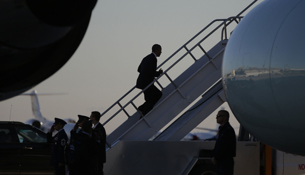 Counting the stairs is how you keep from falling up Air Force One.